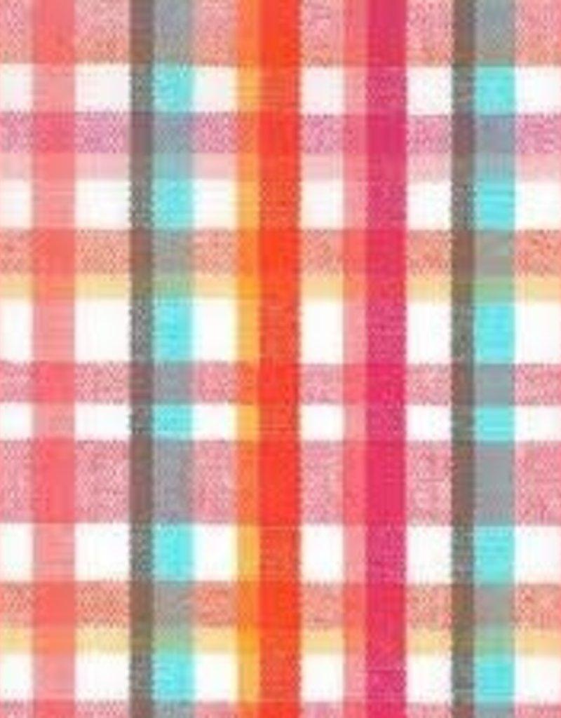 Fabric Finders FF PINK/AQUA/ORANGE PLAID