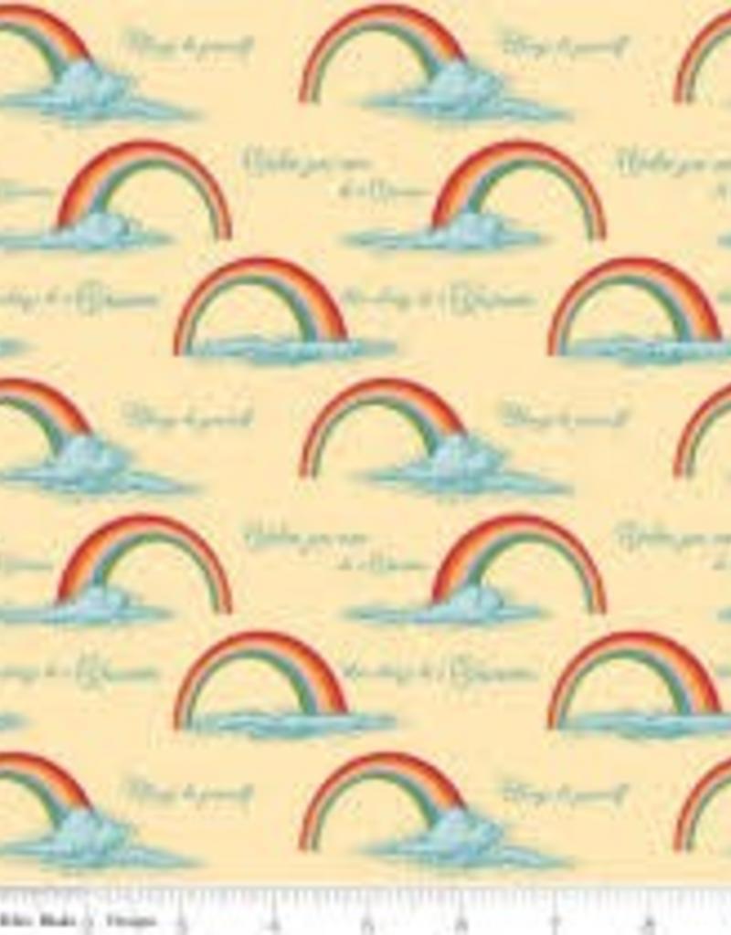 RILEY BLAKE RB C3712 UNICORNS AND RAINBOWS YELLOW