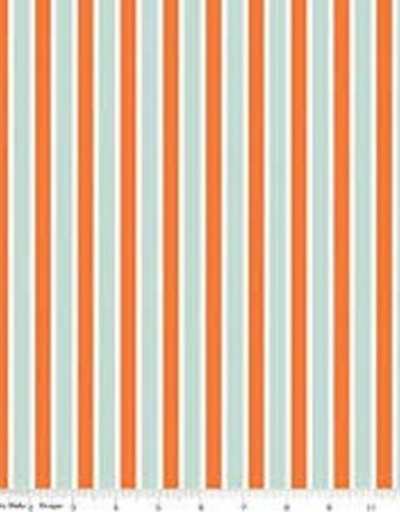 RB C4313 PLAY BALL STRIPE AQUA ORANGE
