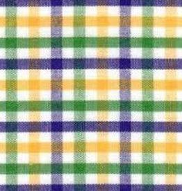 Fabric Finders FF MARDI GRAS TRI CHECK