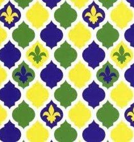 Fabric Finders MARDI GRAS QUATREFOIL