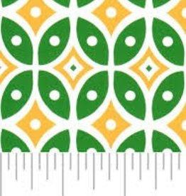 Fabric Finders FF GREEN GOLD GEOMETRIC