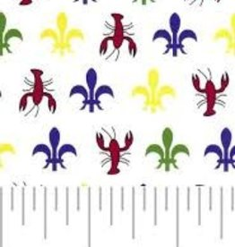 Fabric Finders FF MARDI GRAS CRAWFISH
