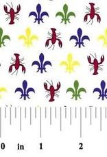 Fabric Finders FF MARDI GRAS CRAWFISH