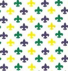 Fabric Finders FF Mardi Gras MINI FLEUR DE LIS