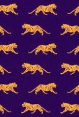 Fabric Finders FF PURPLE WITH GOLD TIGER