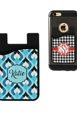 Sublimation Silicone Card Caddy Phone Wallet- Black