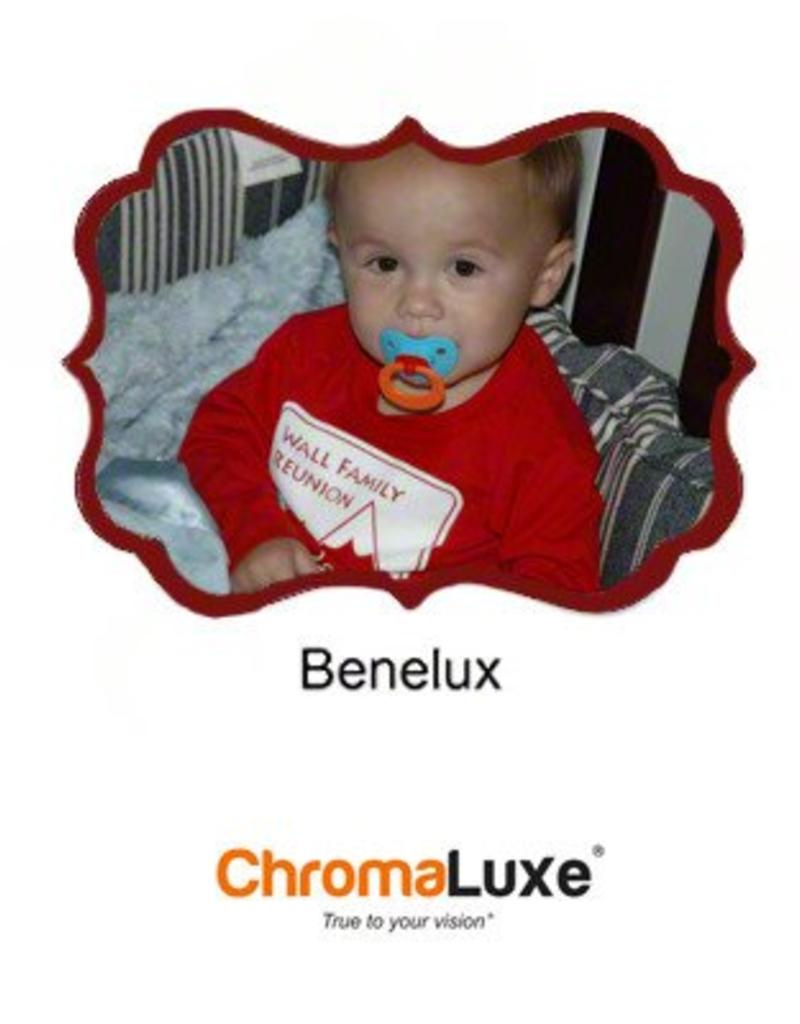 "Sublimation Benelux 11.37"" x 8.0625"" Gloss White ChromaLuxe Aluminum"