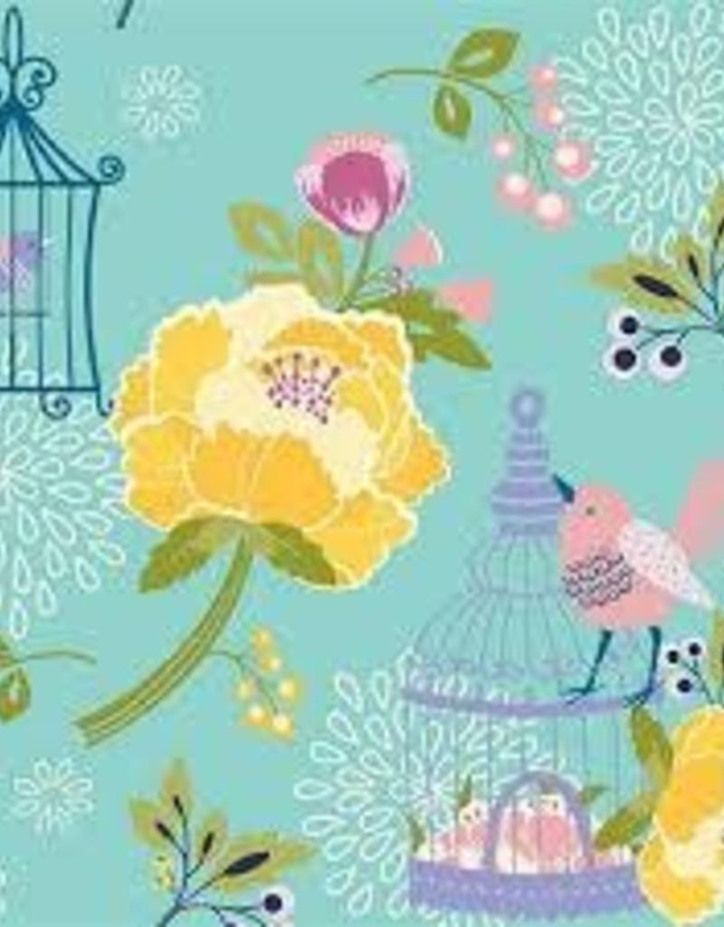 RILEY BLAKE RB MINT LULABELL FLOWER/ BIRD/ CAGE