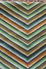 ROWAN ROWAN GREEN/ BROWN CHEVRON  STRIPE