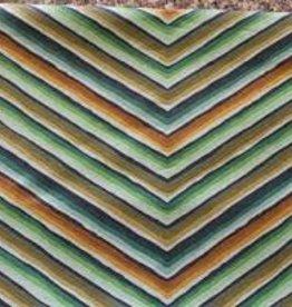 ROWAN ROWAN GREEN/ BROWN CHEVRON  STRIPE
