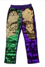 PEANUTS GALLERY PREORDER Mardi Gras flip sequin leggings - infant/toddler/youth