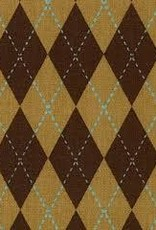 Fabric Finders FF BROWN ARGYLE