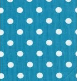 Fabric Finders FF TURQUOISE / WHITE DOT - MEDIUM