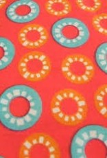 Fabric Finders FF RED W/ AQUA/ORANGE CIRCLES