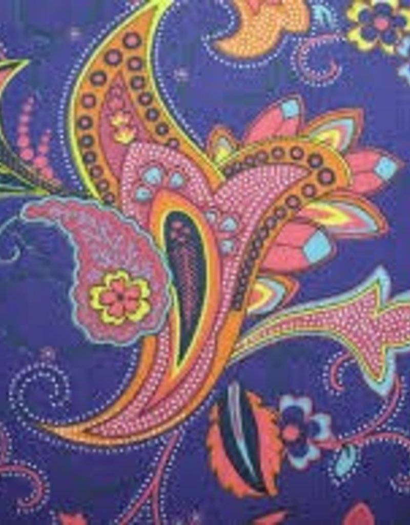 Fabric Finders FF PURPLE PAISLEY