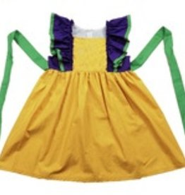 PEANUTS GALLERY Mardi Gras Ruffle Dress