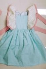 PEANUTS GALLERY Spring Ruffle Dress - Blue/pink/ivory