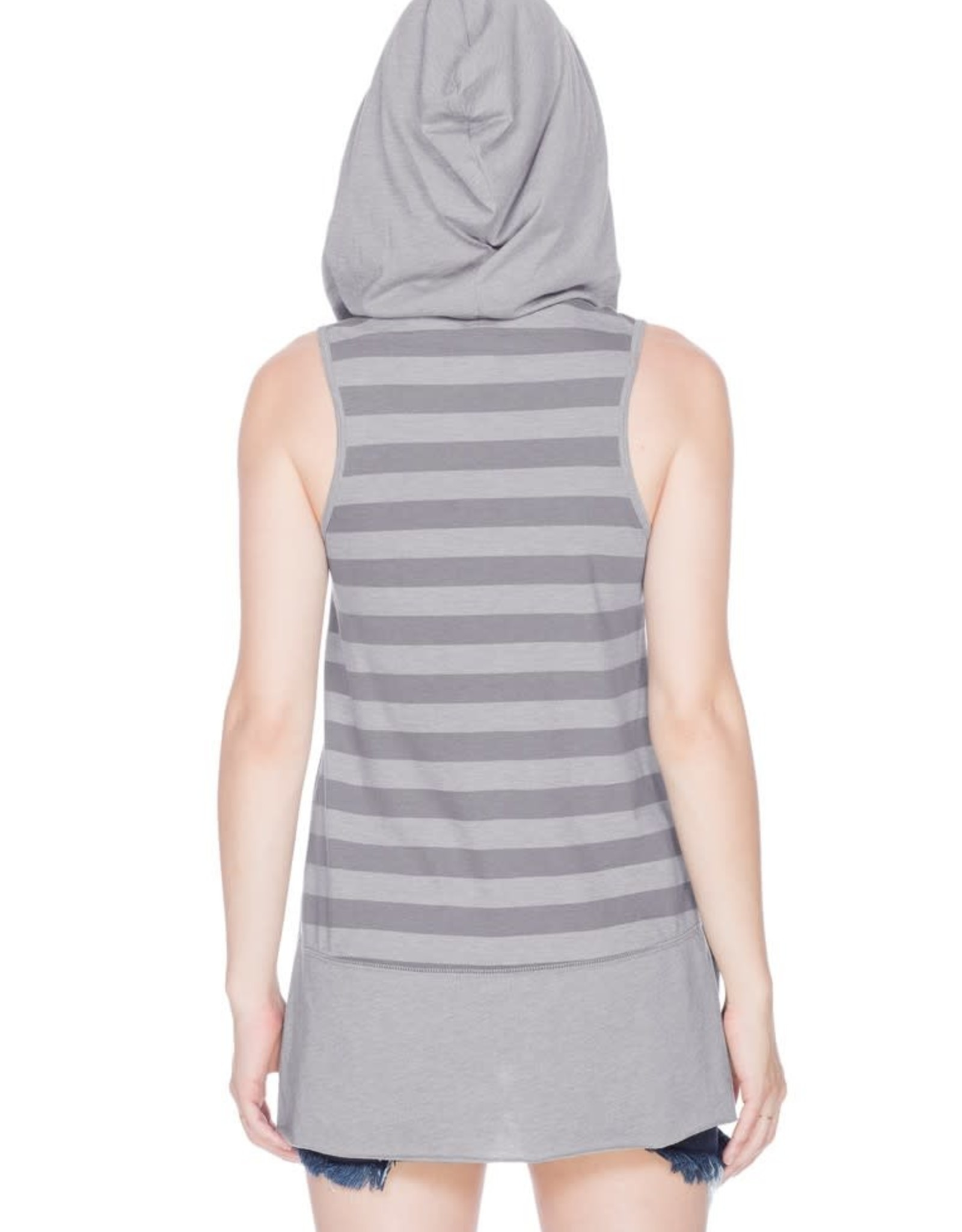 Kavio Juniors Jersey Striped Back Hoodie Tank