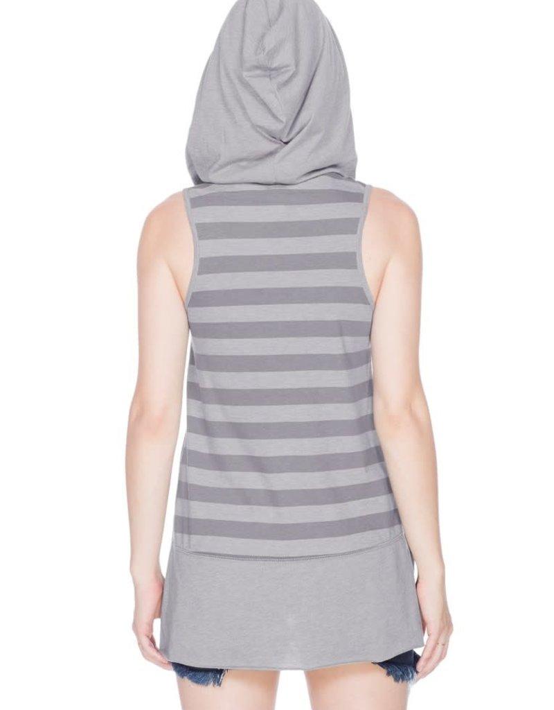 Kavio Kavio Juniors Jersey Striped Back Hoodie Tank
