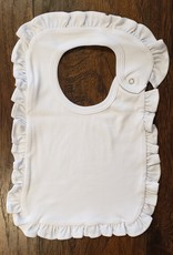 Monag White 100% Cotton Bib with Ruffles
