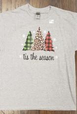 Buffalo Plaid Tis the Season Shirt (Size Large)