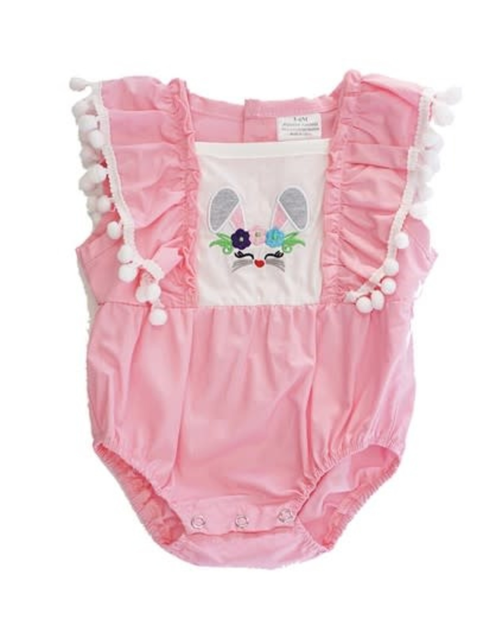 Pink Bunny Baby Romper