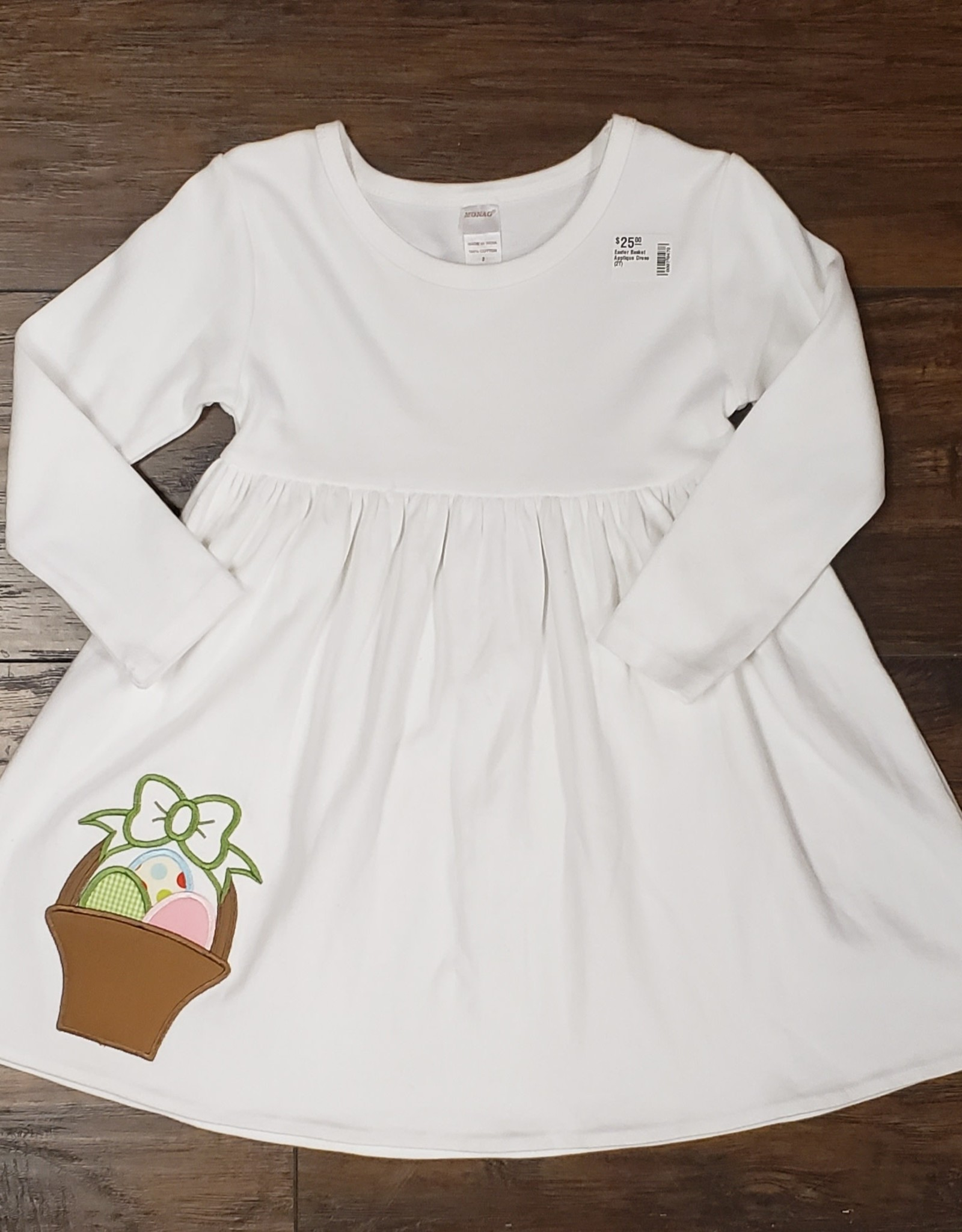 Easter Basket Applique Dress (2T)