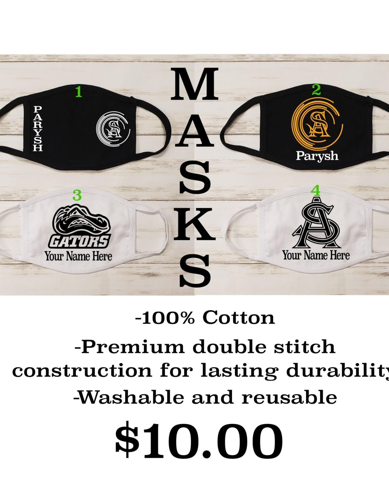 "STA Mask 100% Cotton - Reuseable - 7"" W x 5"" L"