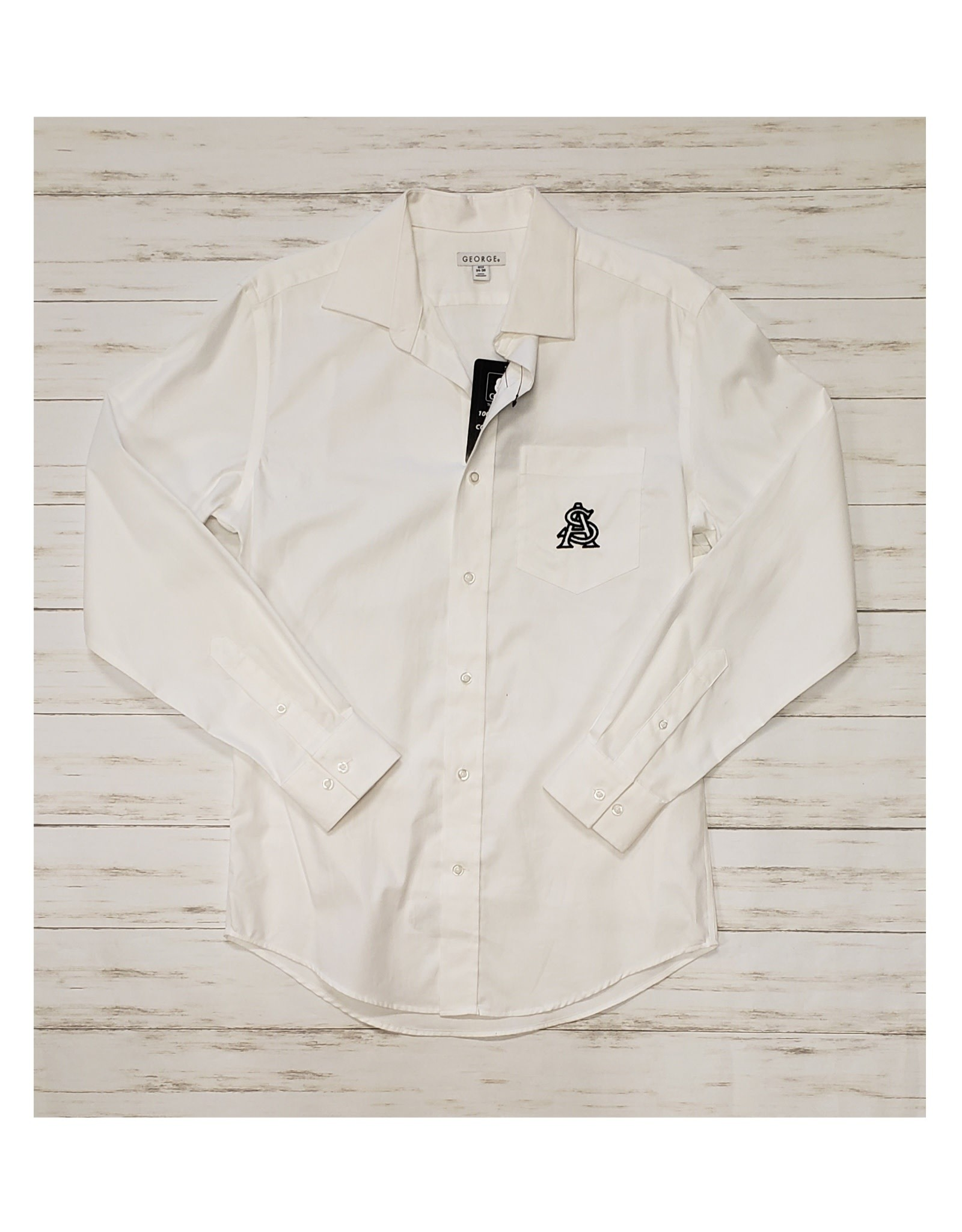 STA Embroidered Ladies L/S Button Up (Small)
