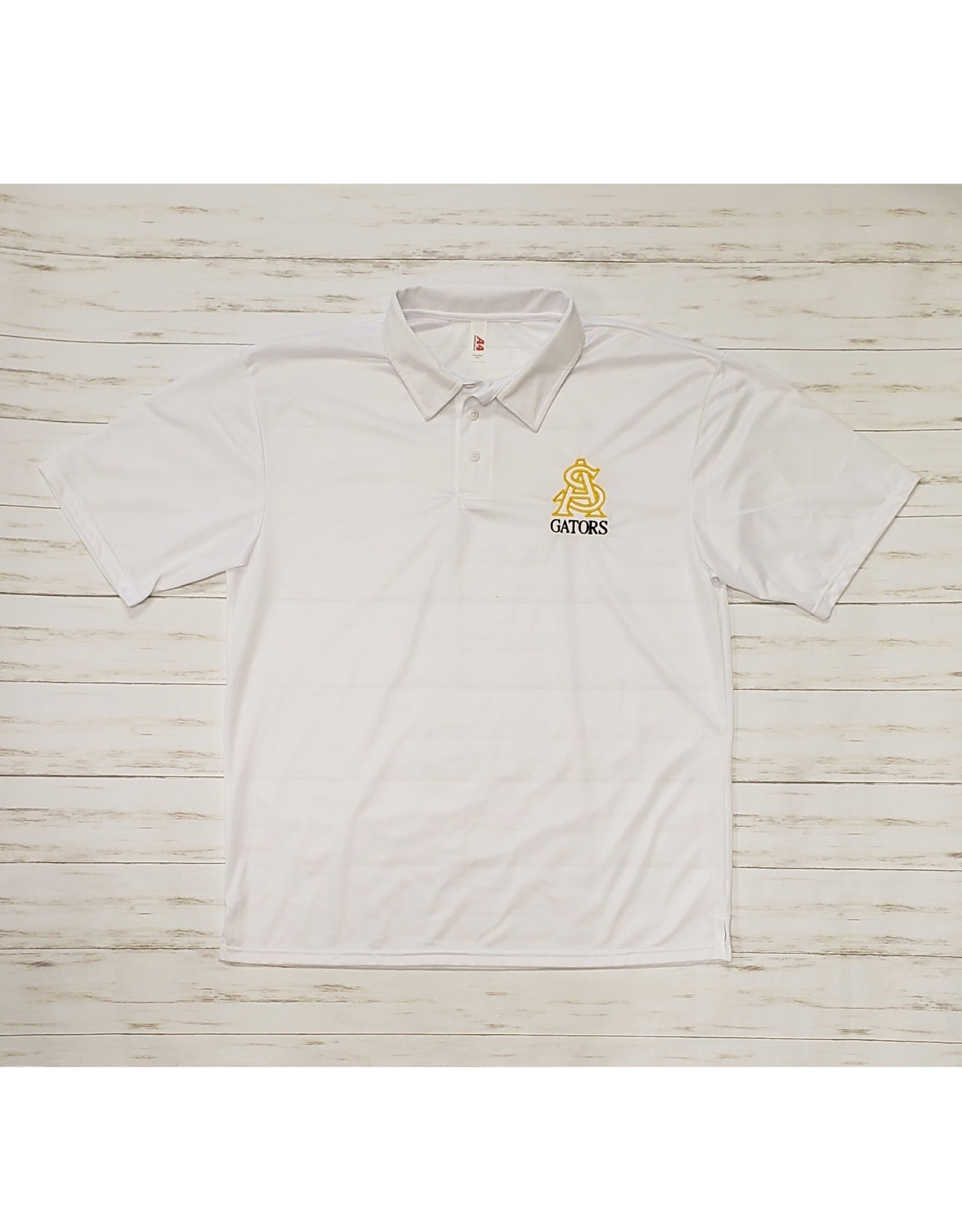 STA Embroidered A4 Moisture Wicking Polo (White 2XL)