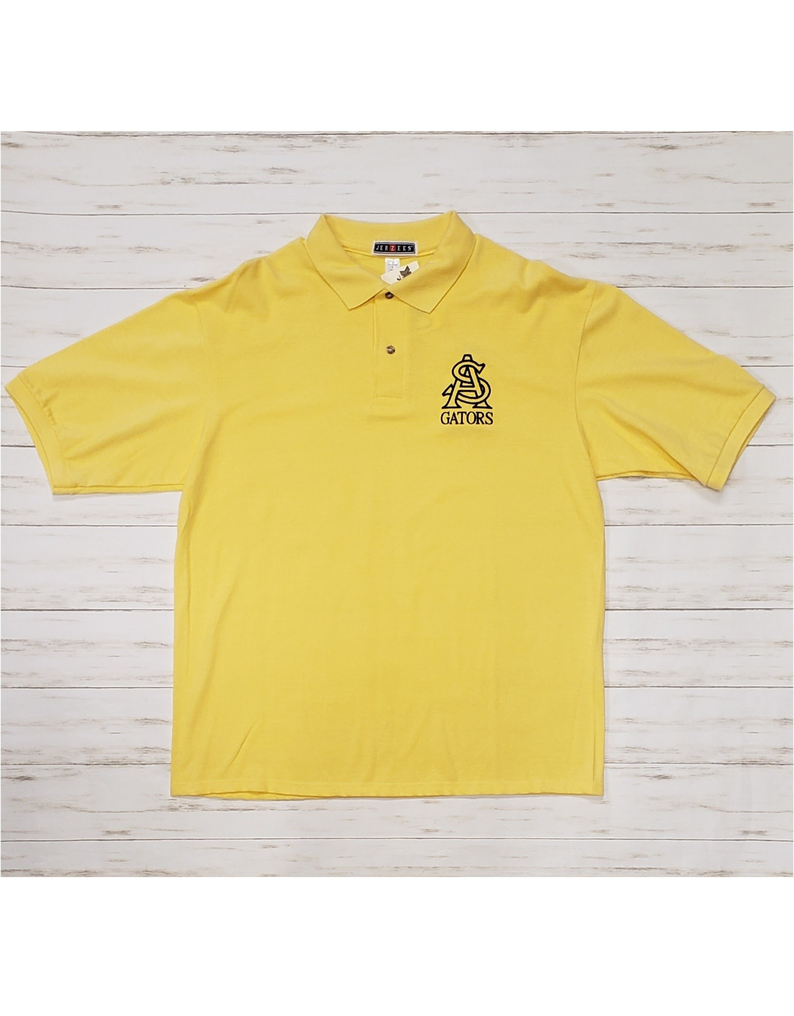 STA Embroidered Jerzees Polo Yellow (Large)