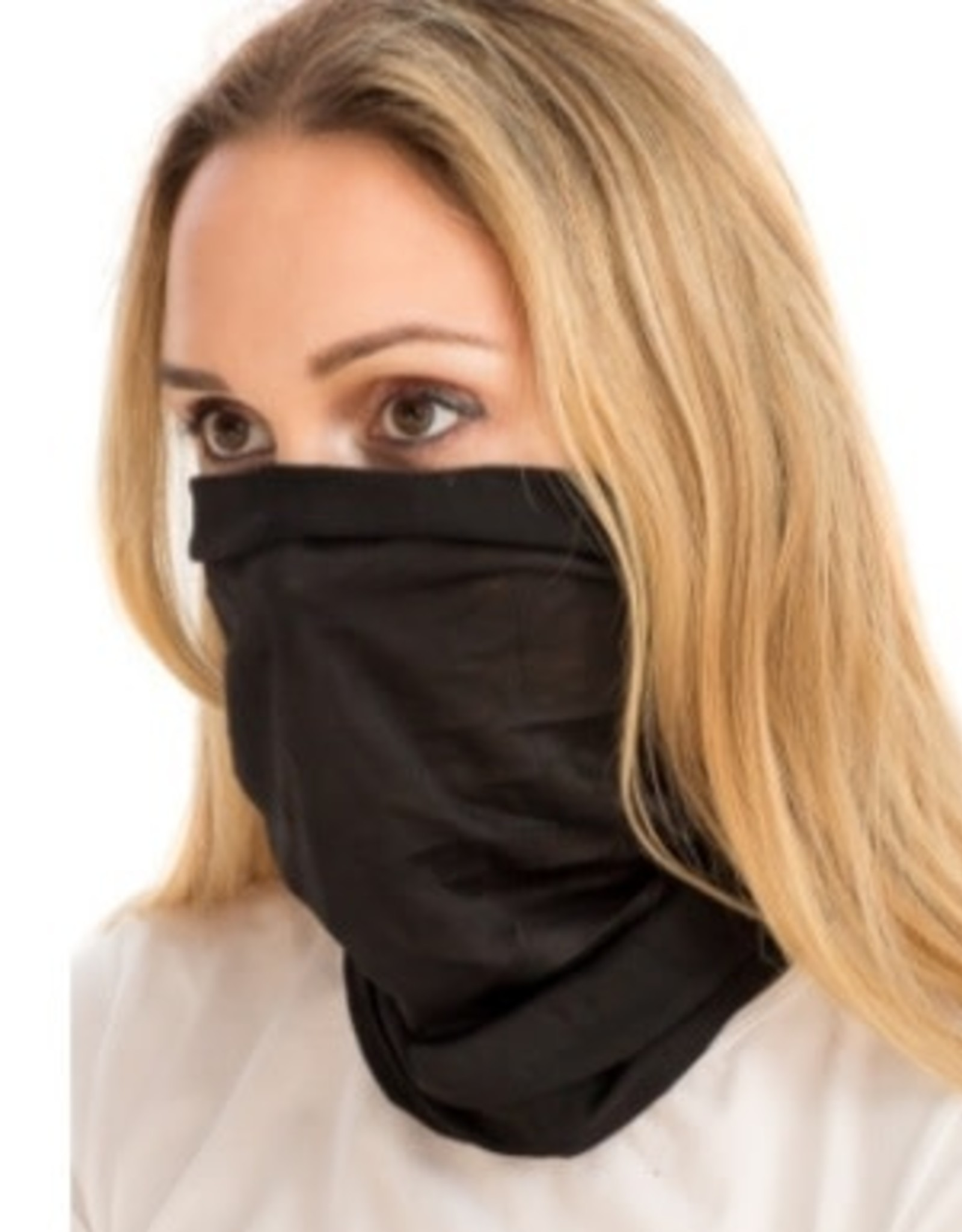 Black Lightweight Cotton Neck Gaiter