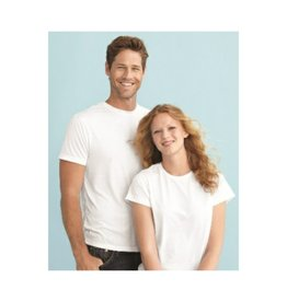 SubliVie White Adult Polyester Sublimation Tee