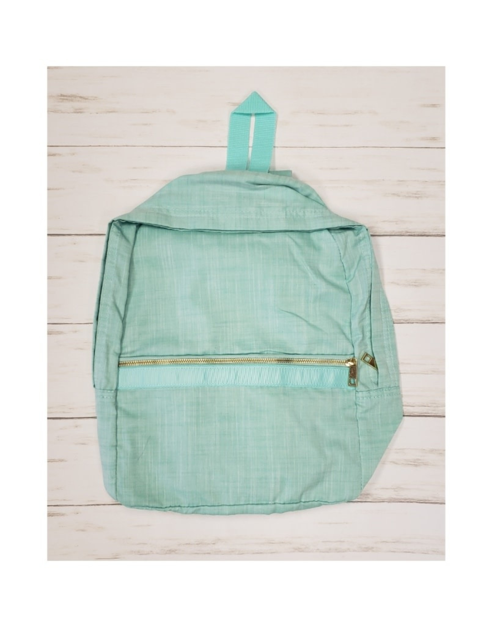 Oh Mint Chambray Medium Backpack