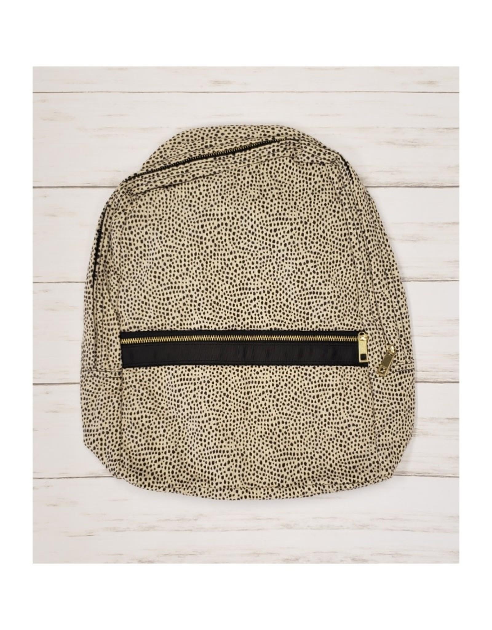Oh Mint Cheetah Seersucker Medium Backpack