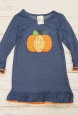 Girl's Pumpkin Applique Dress