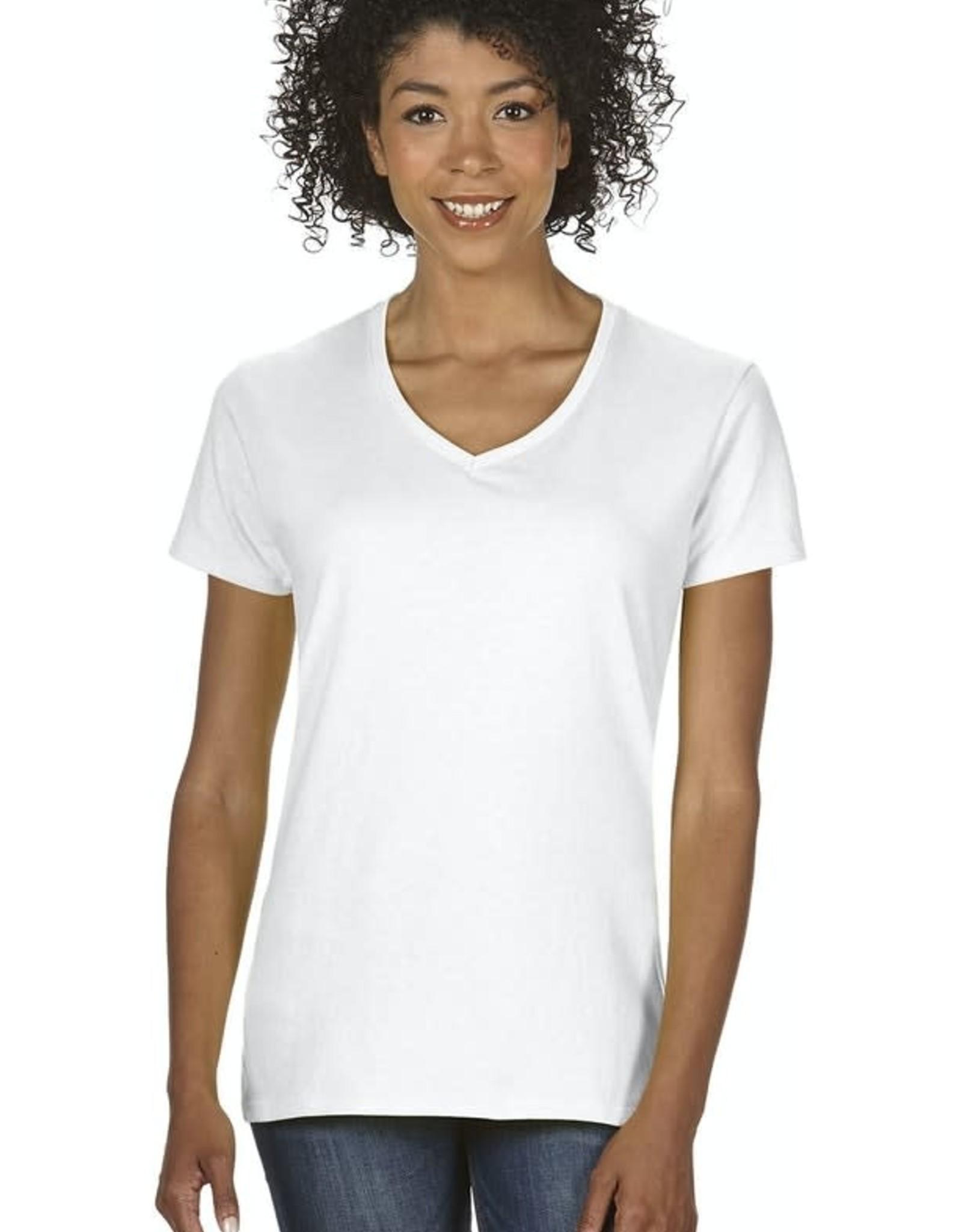 Gildan 100% Cotton Ladies V-Neck Shirt