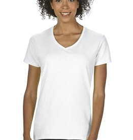 Gildan 100% Cotton Ladies V-Neck Shirt