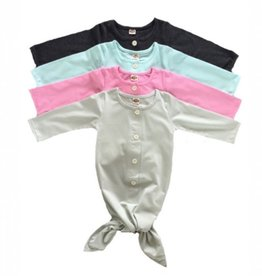 Knotted Baby Sleep Gown (0-3 Mth)