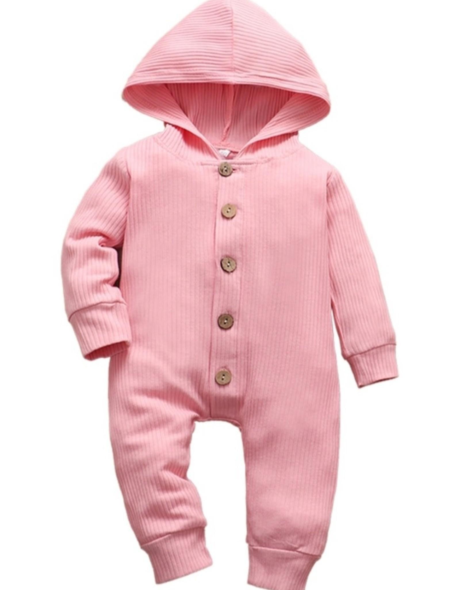 Knit Baby Hoodie Romper