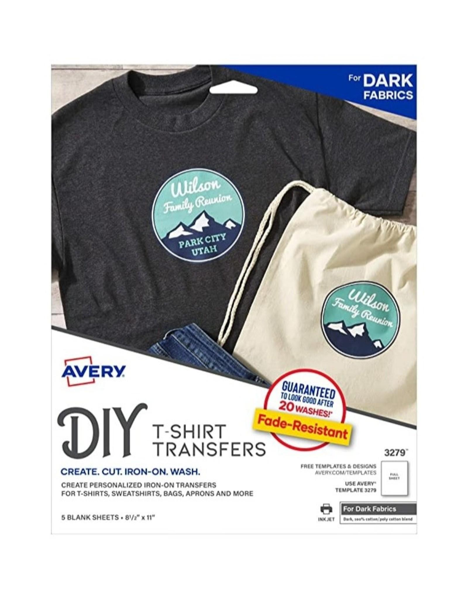 Avery Dark Fabric Transfers-Ink Jet