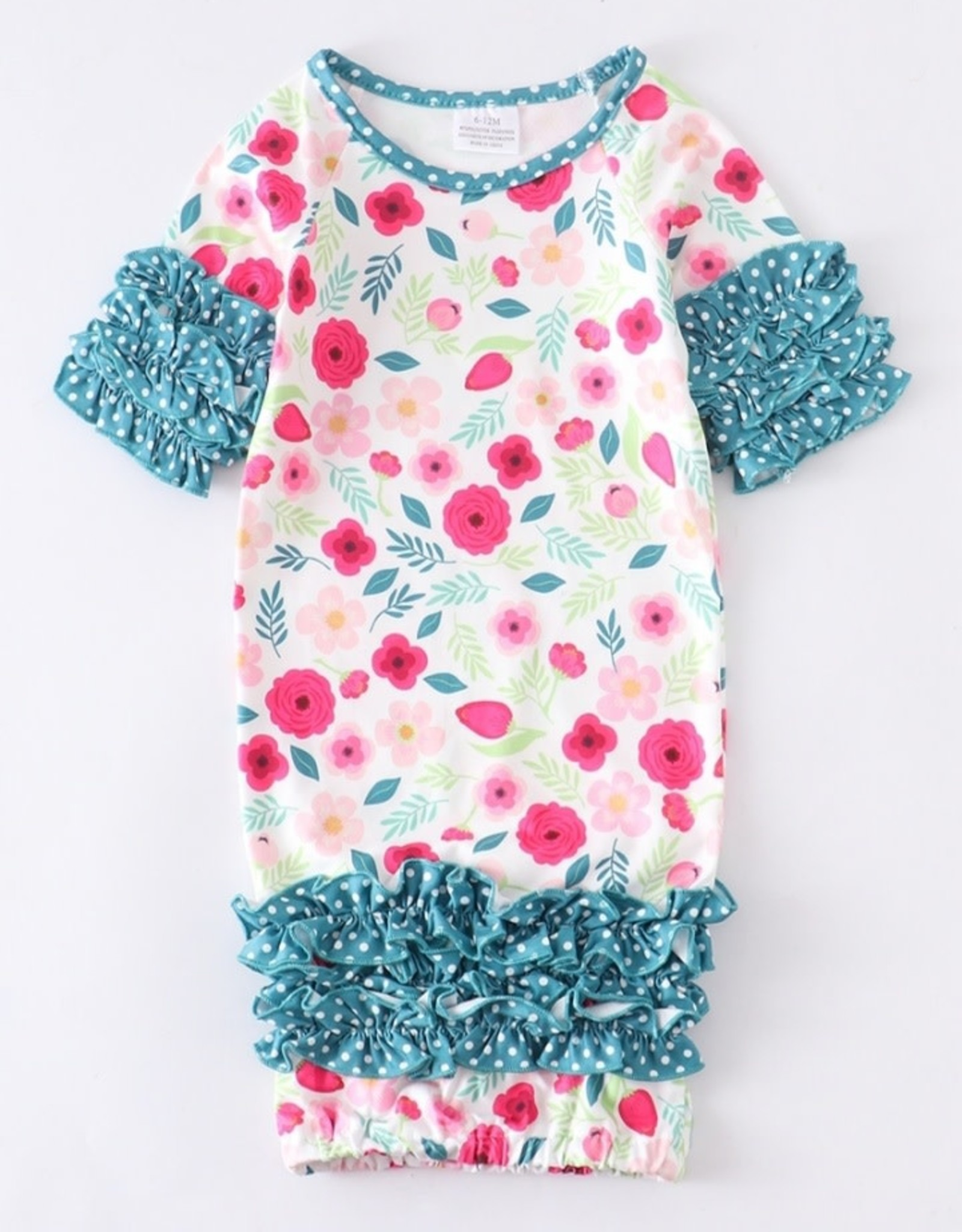 Floral Baby Gown (6-12 Mth.)