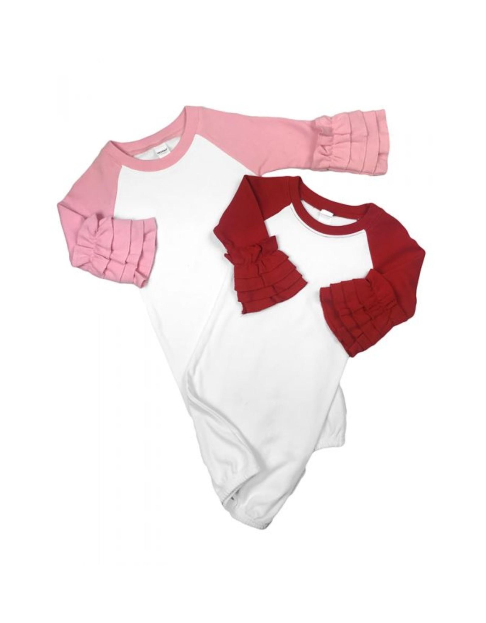 Monag Ruffle Raglan Baby Gown