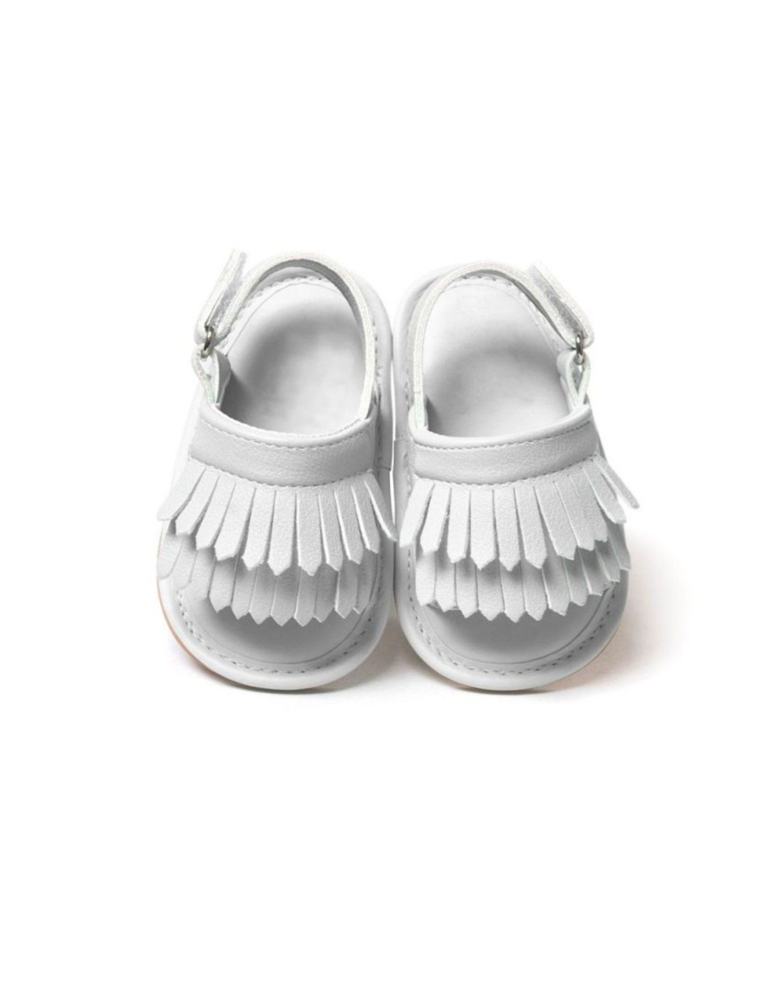 Infant White Tassel Sandals