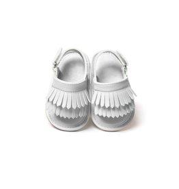 Infant White Tassel Sandals