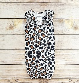 Leopard Sleeveless Babhy Gown (6mth.)