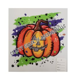 SLM Transfer 300 Degrees-20sec Cold Peel Splatter Pumpkin Toddler/Youth