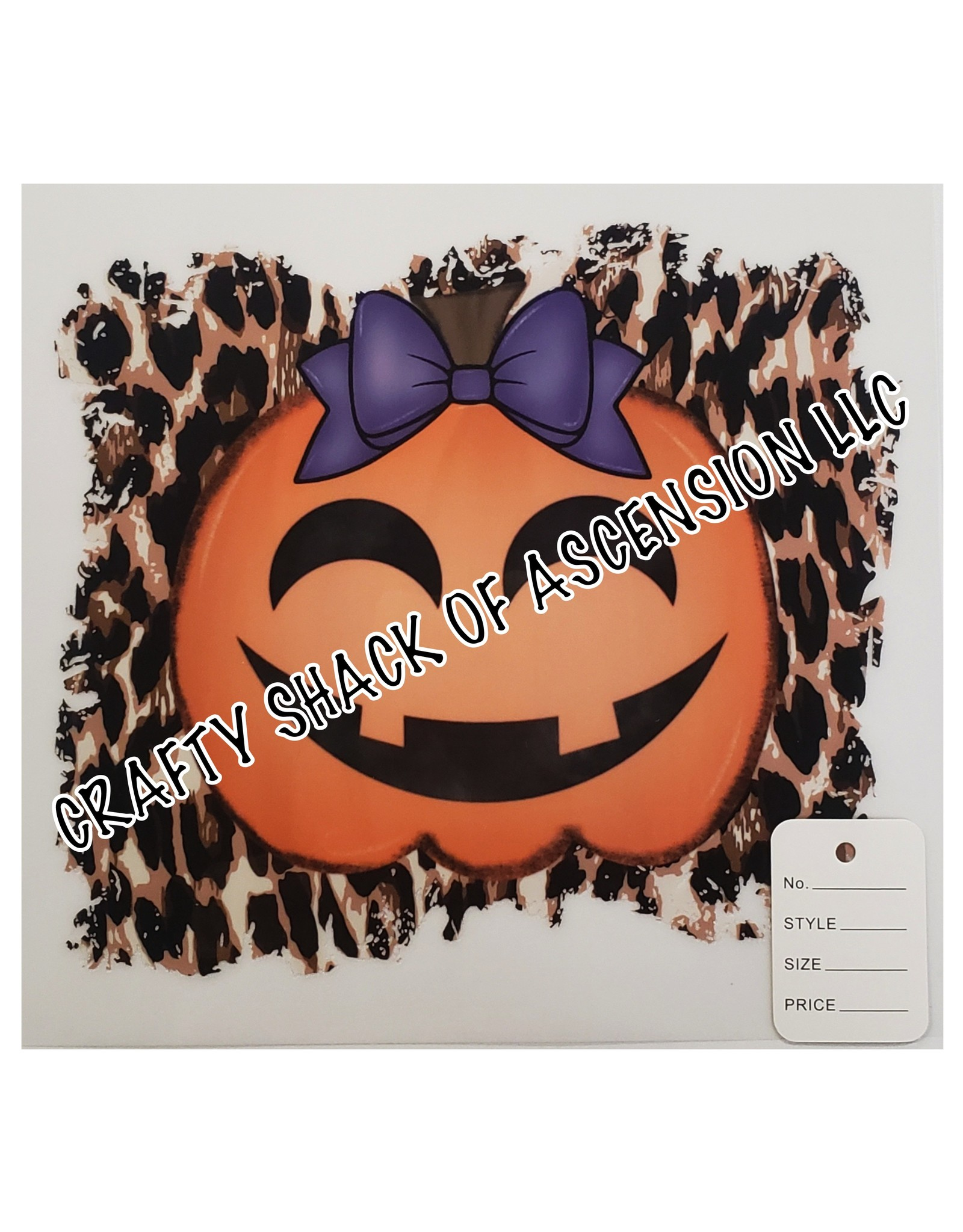 SLM Transfer 300 Degrees-20sec Cold Peel Leopard Pumpkin Toddler/Youth