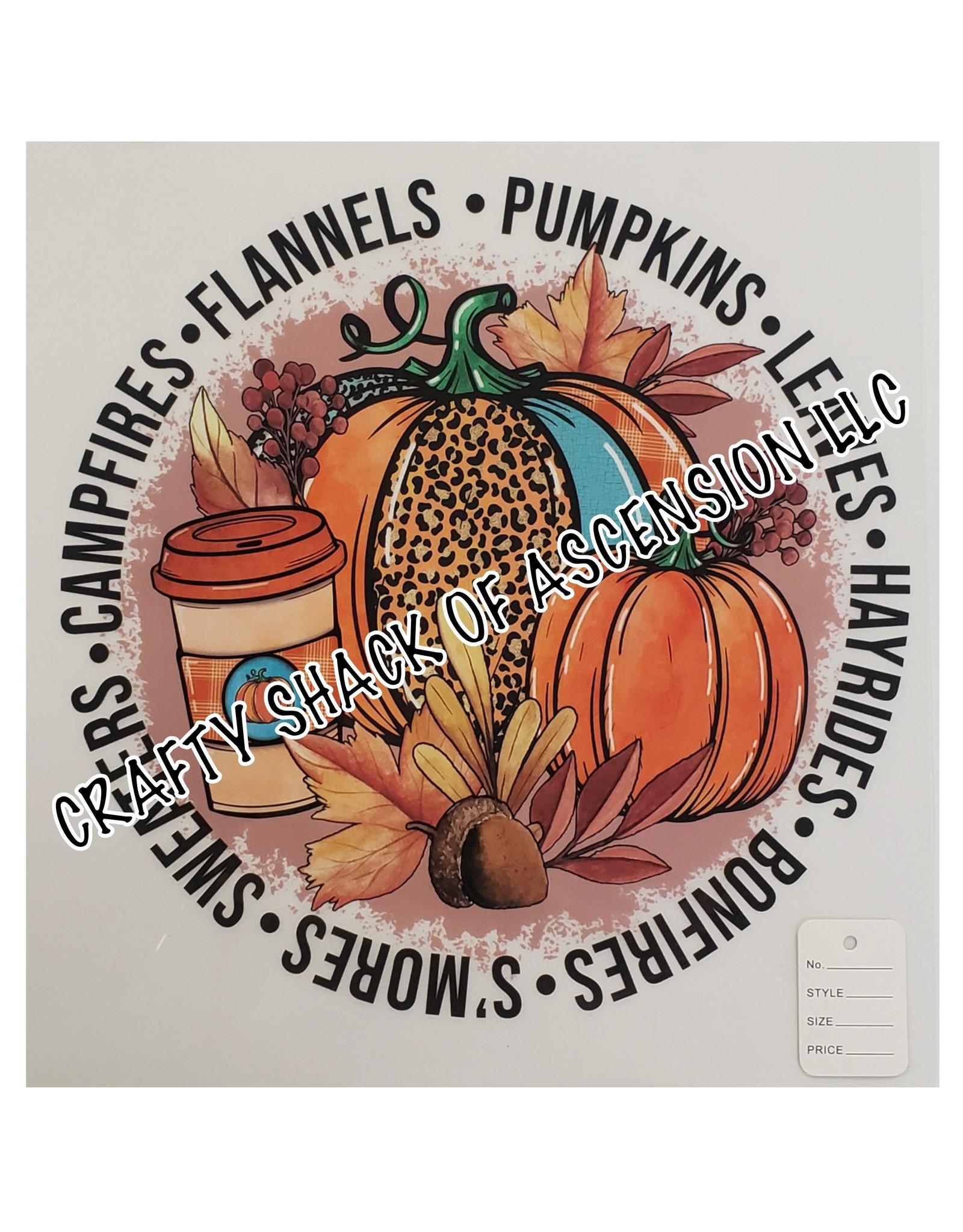 SLM Transfer 300 Degrees-20sec Cold Peel Fall Pumpkin Adult